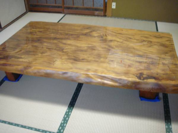 屋久杉 大型テーブル 200cm×110cm 一枚板 送料無料_画像1