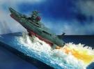 ジオラマ/1/1000■宇宙戦艦ヤマト2199/海上発進/噴射大波航走波)シートオーダーメイド