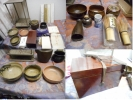 茶道具セット(抹茶碗・袱紗・棚物・茶道具入れ・・茶筅 他)