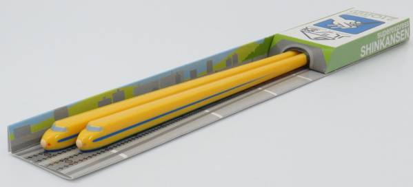 新幹線 ハシ鉄 922形ドクターイエローお箸21cm/日本製雑貨 メール便可 ポイント消化_その他にもいろいろ新幹線のお箸出品中です