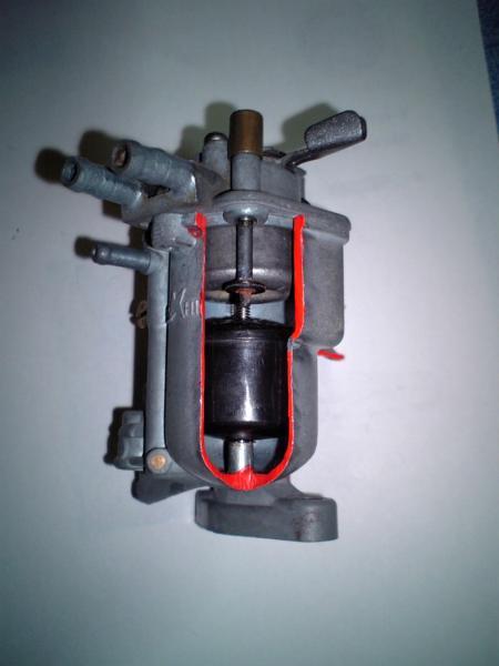 ホンダ純正即決 C100 カブ キャブレターカットモデル教材用に_画像2