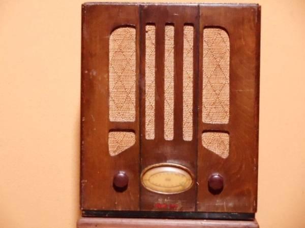 【ジャンク品】アンティーク 真空管ラジオ(電源は入ります) シャープ charp レトロ