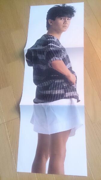 近藤真彦 3つ折り畳み式ポスター 非売品貴重LP内封入特典 コンサートグッズの画像