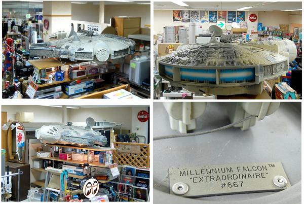 札幌限定 超特大 1.85m スターウォーズ ミレニアムファルコン号 MILLENNIUM FALCON EXTRAORDINAIRE_背景に写っている品は含みません