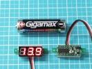 送185円 DC 小型デジタル電圧計0-100V 赤 LED 全波整流に