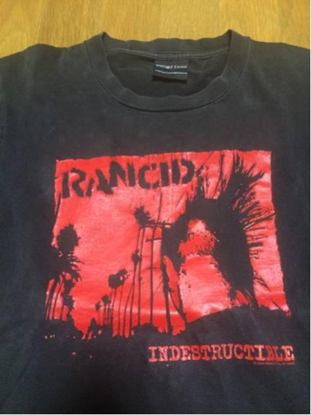 """雰囲気良 古着 """"RANCID""""プリントTシャツ S~Mサイズ"""