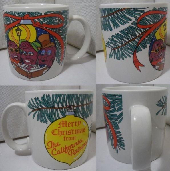 80s カリフォルニアレーズン マグカップ クリスマス A979