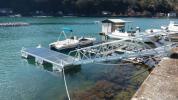モーターボート ヨット用簡易浮き桟橋 検)ポンツーン 台船 筏