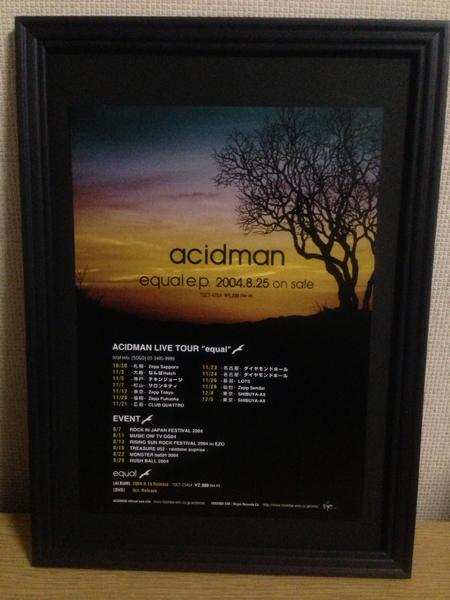 『ACIDMAN equal e.p.』 額装品 A4フレーム付 アシッドマン