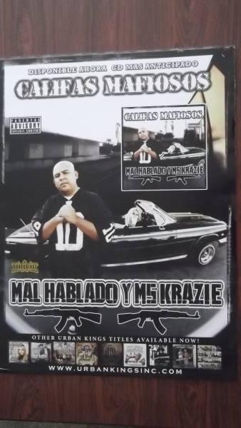 ☆MAL HABLADO・MS.KRAZIE / CALIFAS MAFIOSOS アルバムポスタ-
