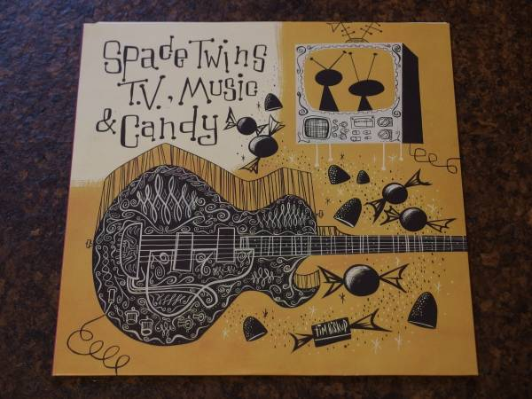 Guitar pop recordings ep! SPACE TWINS - TV, MUSIC&CANDY 7 inch★Weezer-related, neo-core,power pop, emo core