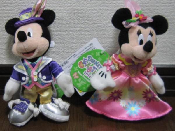 ディズニーイースターミッキーミニーぬいぐるみバッジキーホルダ ディズニーグッズの画像