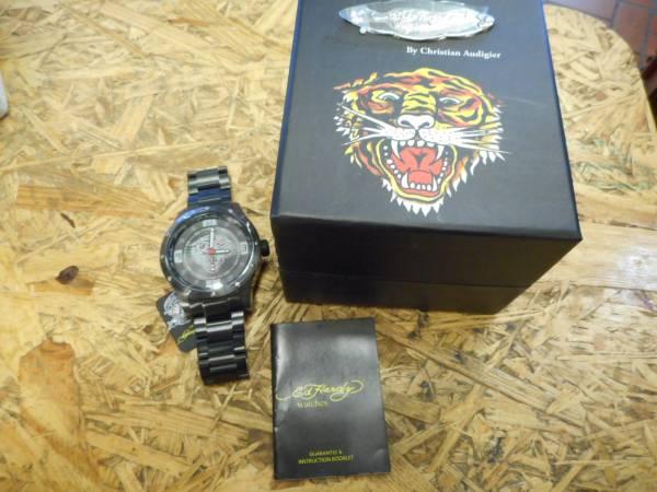 エドハーディー 腕時計 ステンレス Tiger タイガー 虎 ブラック_画像3