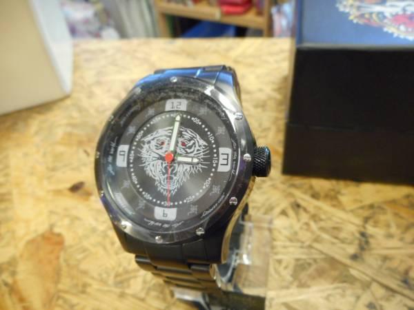 エドハーディー 腕時計 ステンレス Tiger タイガー 虎 ブラック_画像2