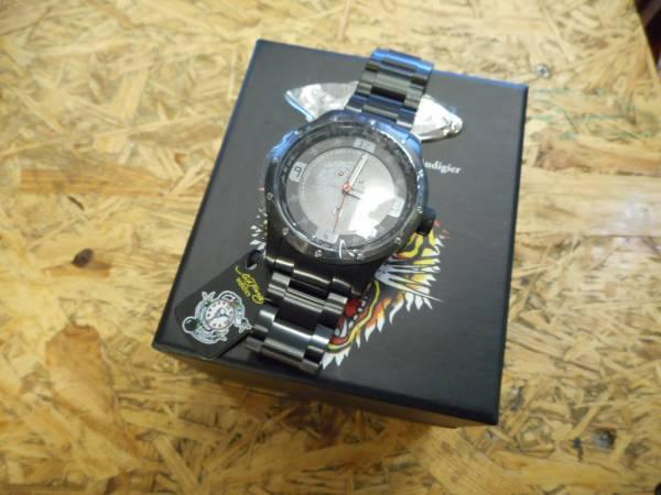 エドハーディー 腕時計 ステンレス Tiger タイガー 虎 ブラック_画像1