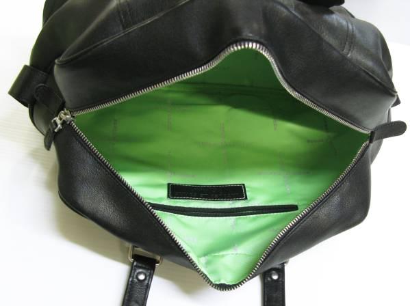 JACQUES LE CORRE ジャックルコー:レザー ボストンバッグ 黒 bag_画像3