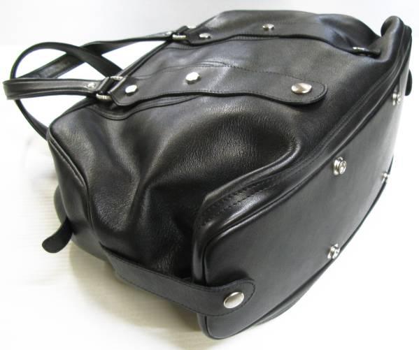JACQUES LE CORRE ジャックルコー:レザー ボストンバッグ 黒 bag_画像2