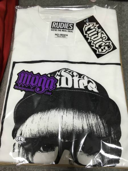 RUDIE'S コラボTシャツ でんぱ組.inc ルーディーズ 白 XL ライブグッズの画像