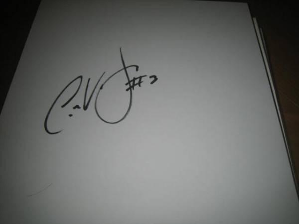 2000年 日米野球来日 モントリオール・エクスポズ Jose Vidro ホセ・ビドロ選手 直筆サイン色紙