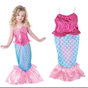 ディズニープリンセスアリエルドレス衣装ワンピース子供120 ディズニーグッズの画像