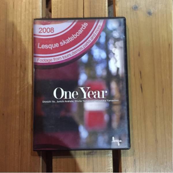 中古 Lesque skeateboards one year DVD_画像1