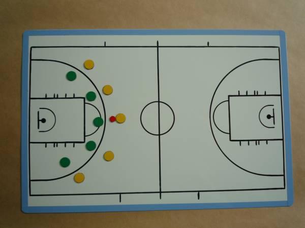 バスケットボール作戦ボード(作戦板・作戦版・作戦盤)鉄板 A4_表面