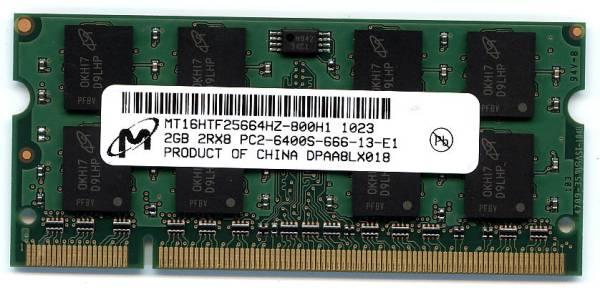 東芝DynaBook対応メモリー2GB PC2-6400 200Pin【PAME2004,PAME2005互換品】 即決 相性保証_画像1