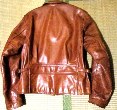 インディアン モトサイクル レザー 本革 ライダースジャケット 茶系 ブラウン 牛革 サイズ36 バイカーはツーリングにいかが?_画像2