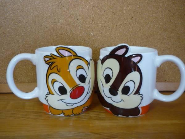 チップ&デールLOVEペアマグ★マグカップ2個セット★ディズニー/Disney★ラブペアマグ ディズニーグッズの画像