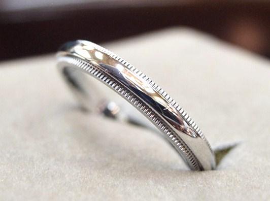 メンズ!結婚指輪【ティファニー】【17号強】PT950:5.8g