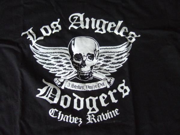 LA Dodgers ロサンゼルス・ドジャース球場購入貴重スカルTシャツ グッズの画像