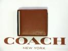 新品★コーチ F74617 IDコイン二つ折り財布(茶)
