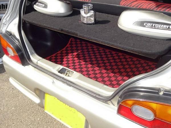 ヴィヴィオ/ビストロ トランクマット カーペット 赤 新品 スバル 3ドア 5ドア セダン KK3/KK4 SUBARU VIVIO_ヴィヴィオ トランクマット