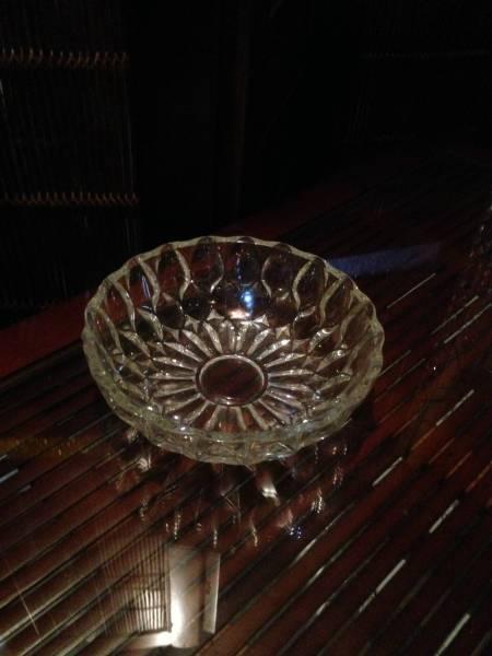 ガラスボールサラダボールクリスタル食器硝子皿デザートソーサー_画像1