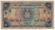 極稀少 西サモア WESTERN SAMOA 2タラ紙幣 1967年発行