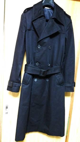 国内正規 良品 レア Dior Homme ディオールオム トレンチコート黒 40 XSS 男女兼用可能サイズ 最長着丈ロングコート エディ期 04AW メンズ_ディオールオム 激レア!ロングコート黒40P