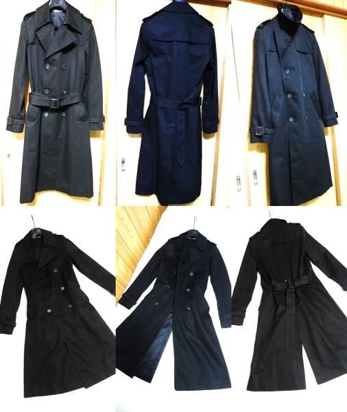 国内正規 良品 レア Dior Homme ディオールオム トレンチコート黒 40 XSS 男女兼用可能サイズ 最長着丈ロングコート エディ期 04AW メンズ_モデル数自体少ないロングトレンチコート☆