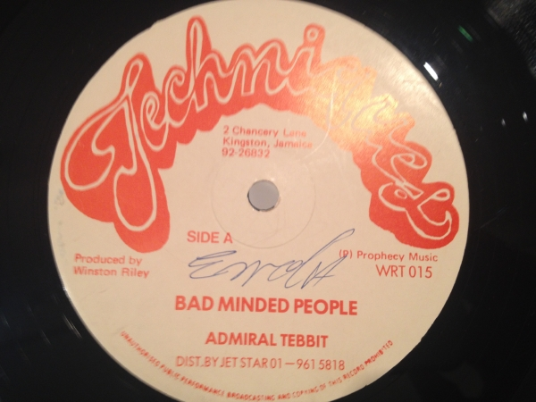 ■Admiral Tibet/Bad Minded People■人気ダンスホール!_画像1