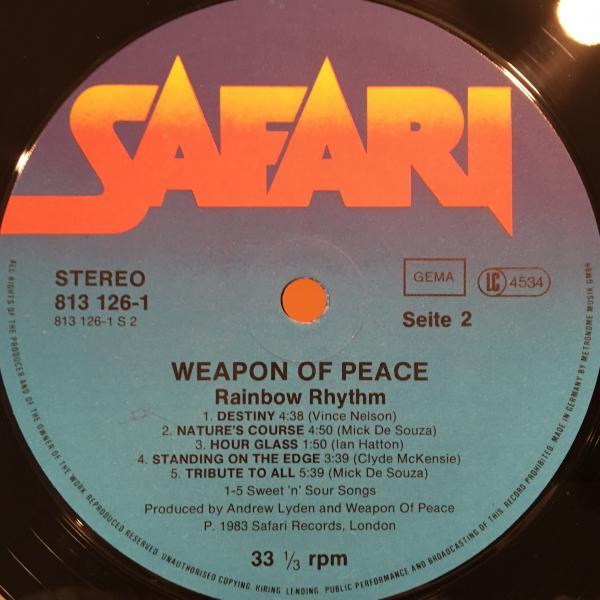 ●Weapon Of Peace/Rainbow Rhythm●メロウUKレゲエ!_画像2