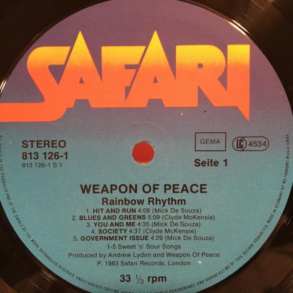 ●Weapon Of Peace/Rainbow Rhythm●メロウUKレゲエ!_画像3