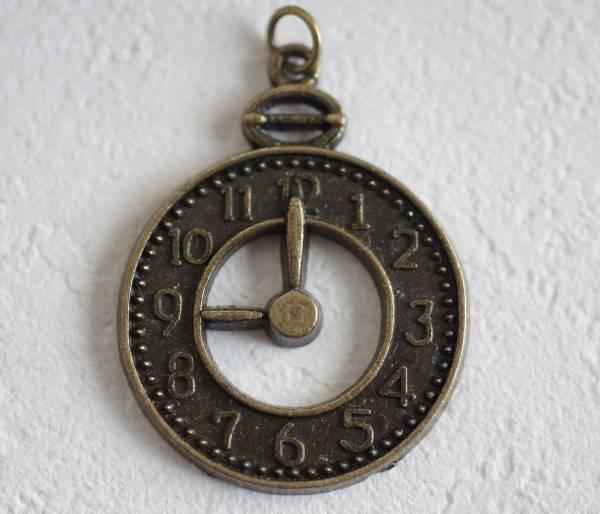 ■即決■時計 懐中時計・ピューターチャーム_画像1