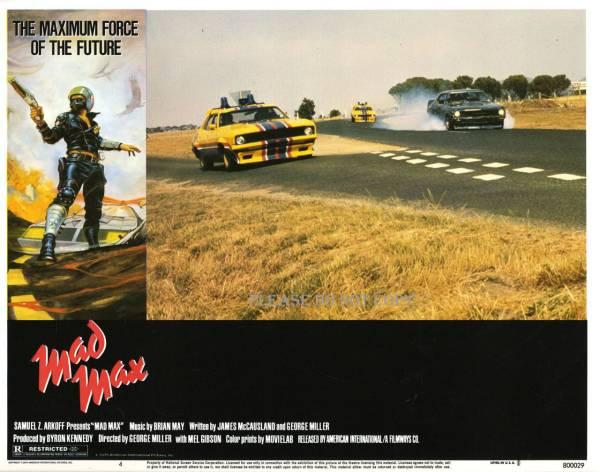 1979年 映画 マッドマックス マックス・ロカタンスキー /メル・ギブソン US ロビーカード 3枚組