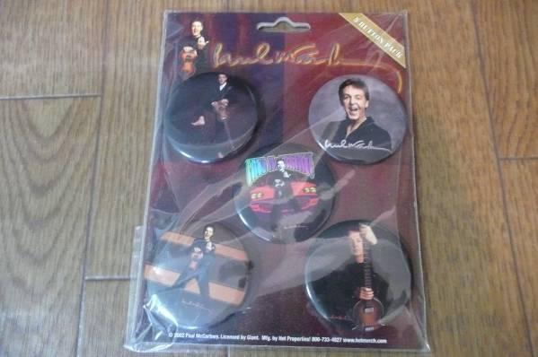 ビートルズ ポール・マッカートニー コンサート 缶バッジ 5個 ライブグッズの画像