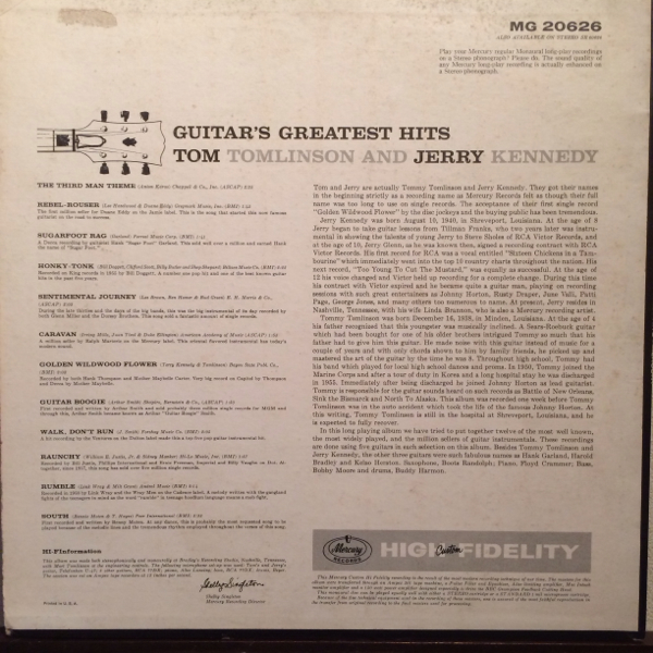 US Orig TOM AND JERRY LP GUITAR'S GREATEST HITS ロカビリー_画像2