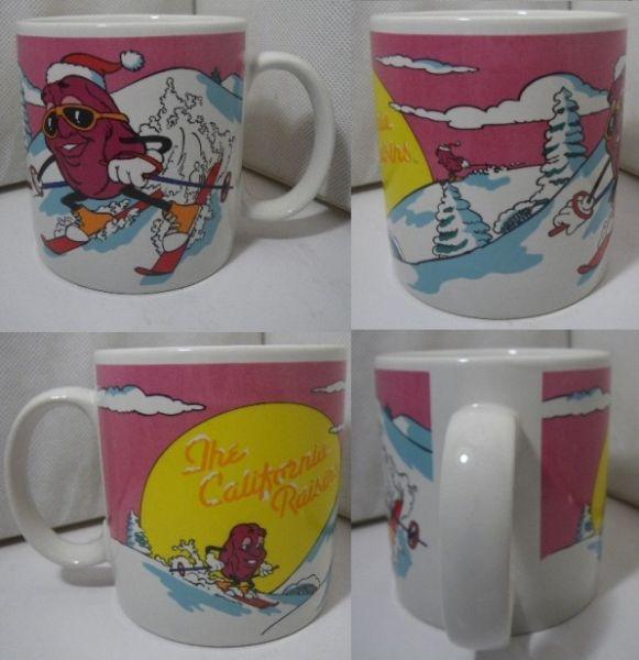 80s カリフォルニアレーズン マグカップ Ski A978