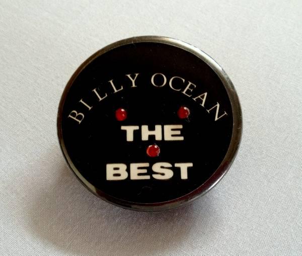 ■美品■BILLY OCEAN■非売品缶ブローチ■ビリー・オーシャン■