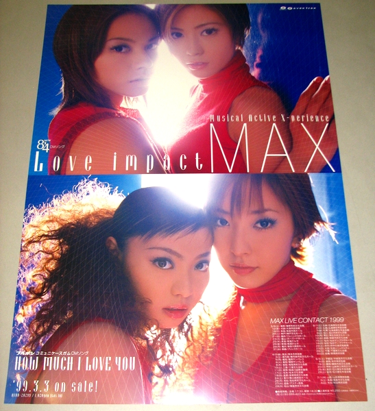 У2 告知ポスター [MAX] LOVE IMPACT NANA MINA LINA REINA