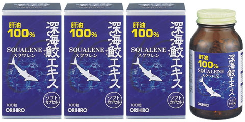 オリヒロ 深海鮫エキス■180粒×3個セット■深海ザメ 肝油_画像1