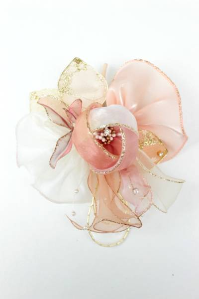 新品 百貨店品 コサージュ フォーマル 結婚式 入学式 花 日本製 ピンク