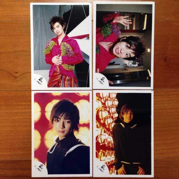 即決¥3000★嵐 公式写真 1442★松本潤 デビュー初期 貴重 嵐ロゴ 4枚セット